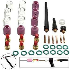 Werse 40Pcs Tig Welding Kit Gas Lens Para Tig Welding Torch Wp-9 ...