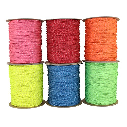 SGT KNOTS Spectra Cord (1.5 mm x 100 feet) - Low-Stretch Hi-Visibility Accessory Rope - Polyester Cover, Spectra Core - for Hammocks, Tie-Downs, Camping, Survival, Boot Laces, More (Neon Yellow)