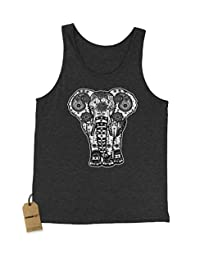Expression Tees Elephant Indian Mandala Jersey Tank Top for Men