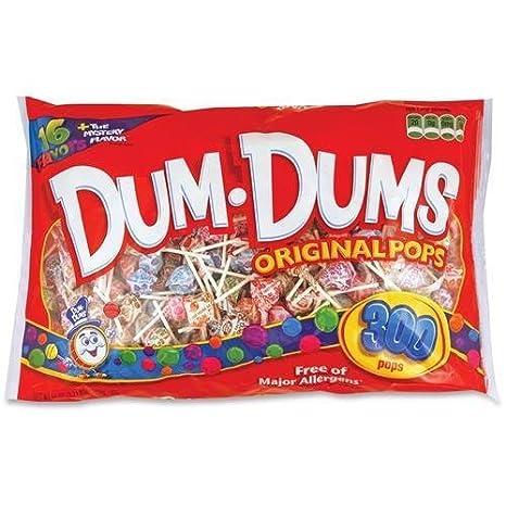 60 Dum Dum Pops Original Pops - Blue Raspberry, Butterscotch, Watermelon, Sour Apple