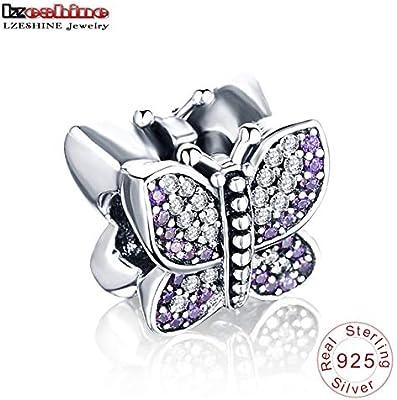 b3d51366c Amazon.com: Ochoos Suplush Charm Beads Authentic 925 Sterling Silver Shinny  Charm Pendants Fit Brand Original Brand Bracelet Authentic Jewelry DIY -  (Color: ...