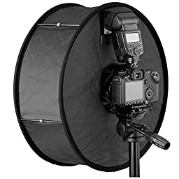 Neewer Round Universal Collapsible Magnetic Ring Flash Diffuser Soft Box 45cm/18\