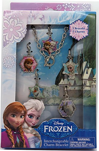 Disney Frozen Jewelry Box Set with Metal Charm Bracelet