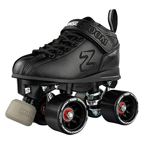 Crazy Skates Zoom Roller Skates - High Performance Speed Skates - Black (Men's Size 8.5 / Women's Size 9.5) ()