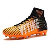 football cleats boys - Littleplum Kids Soccer Cleats Boys High Ankle Sock Soccer Shoes Athletic Football Shoes Performance Shock buffer Foot Care Indoor/Outdoor (Little Kid/Big Kid)