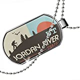 Dogtag US Hiking Trails Jordan River Trail - Utah Dog tags necklace - Neonblond