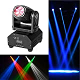 LED Moving Head Stage Light,10W DMX Mini 11/13 Channel Spot Sound Controll Auto Effect Beam RGBW 4 in 1 Master-Slave LED Stage Light for DJ Clubs Party Bar Christmas Lights,Lifego