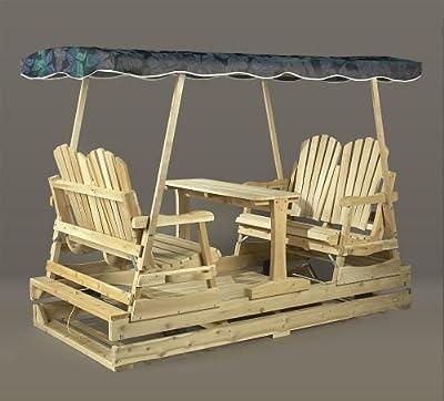 Rustic Cedar 0800805 Deluxe Garden Glider - Jaquard Top