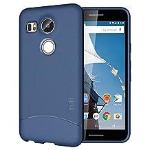 TUDIA Ultra Slim Full-Matte ARCH TPU Bumper Protective Case for Nexus 5X (2015) (Blue)