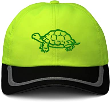 Custom Reflective Running Hat Turtle Walking Hat A Embroidery Polyester One Size