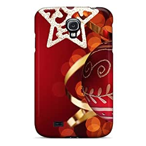 Galaxy S4 Hard Back With Bumper Silicone Gel Tpu Case Cover Christmas Shine