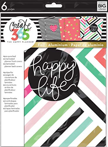 Sticker 3 Ring Binder Refill - me & my BIG ideas Assorted Planner Happy Life Covers