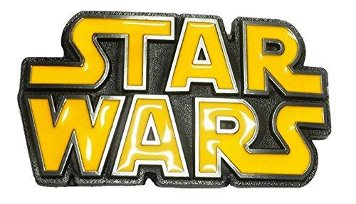(Star Wars Title Logo Metal/Yellow Enamel Belt)