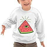 Puppylol Greek waterlemon Kids Classic Crew-Neck Pullover Sweatshirt White
