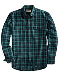 Men's Slim-Fit Long-Sleeve Plaid Twill Shirt