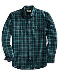 Goodthreads Mens Slim Fit Long Sleeve Blackwatch Plaid Twill Shirt