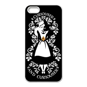 alice in wonderland curiouser and curiouser Phone Case for Iphone 5S