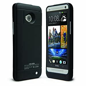 i-Blason PowerGlider For 2013 HTC One (M7) Smart Phone Rechargeable External Battery Glider Full Protection Case - AT&T, Sprint, Verizon, T-mobile (Black)