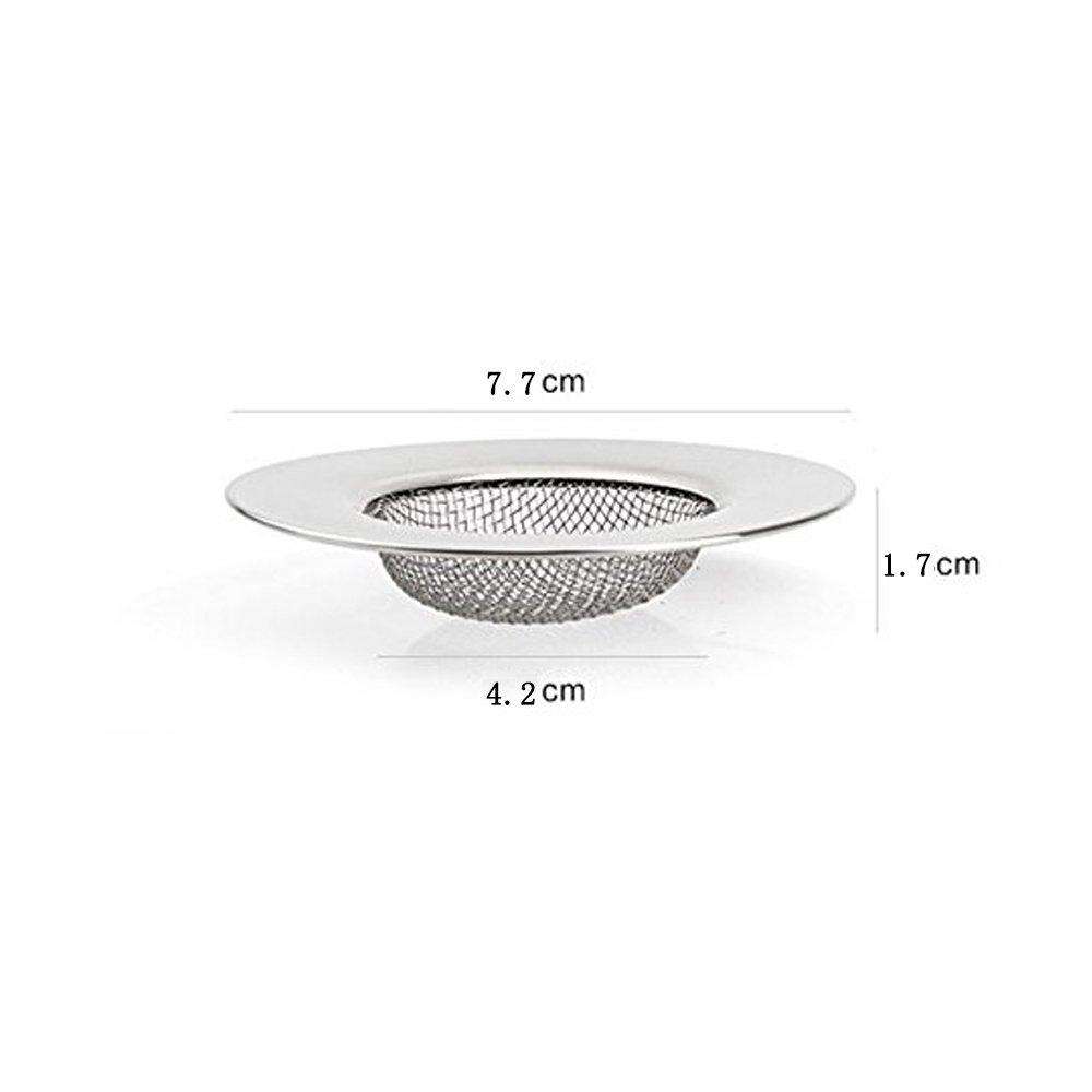 Abflußsieb Edelstahl Küche Waschbecken Spüle Sieb Abfluss-Sieb 7.7 ...