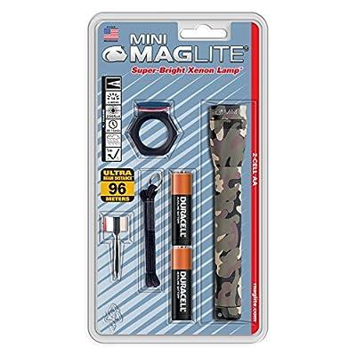Maglite Mini Incandescent 2-Cell AA Flashlight, Black