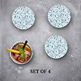 Terrazzo Blue Pattern - Absorbent Stone Coasters