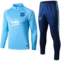 Traje de Entrenamiento de fútbol Traje de Manga Larga Traje de fútbol de Barcelona Suéter Azul Claro y Pantalones de…