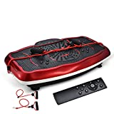 YUHT Vibration Plate Trainer,Bluetooth Music Wholebody Massager Whole Body Vibration Machine Crazy Fit Vibration Plate with Remote Control & Resistance Bands