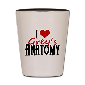 Amazon.com | CafePress - I Love Grey\'s Anatomy - Shot Glass, Unique ...