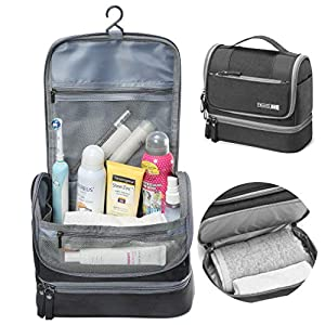 Toiletry Bag, BSTcentelha Hanging Travel Toiletry Organizer Kit with Hook and Handle Waterproof Cosmetic Bag Dop Kit for…