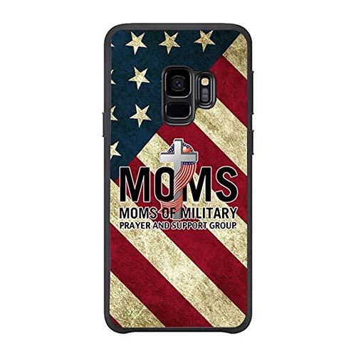 FIDIKO Military Mom Prayer U.S. Flag Previous Cases Compatible Galaxy s9, Cute Hard Plastic Durable | Anti Scratch Hard Back Compatible Samsung Galaxy s9
