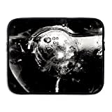 Mr.Roadman Laptop Sleeve Bag Grayscale Photo Of Water Wine Glass Briefcase Sleeve Bags Cover Computer Liner Case Waterproof Computer Portable Bags