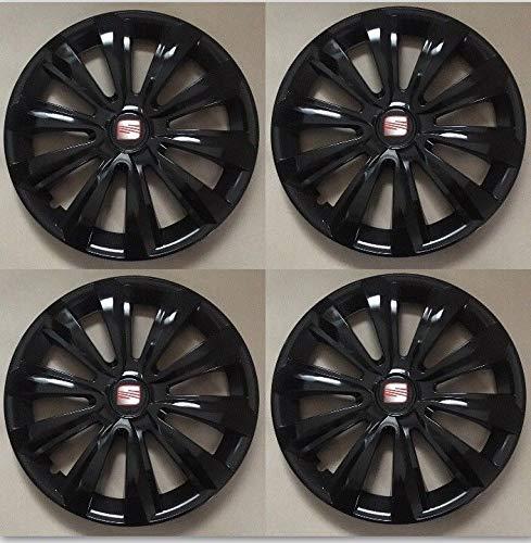 Unit.ec 4X Seat Radkappen 16 Zoll in schwarz Inkl Embleme