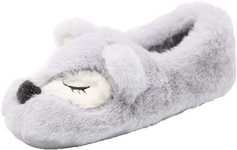 Slippers Womens Fuzzy Warm Slippers Soft Fleece Plush Home Slippers Snow Shoes