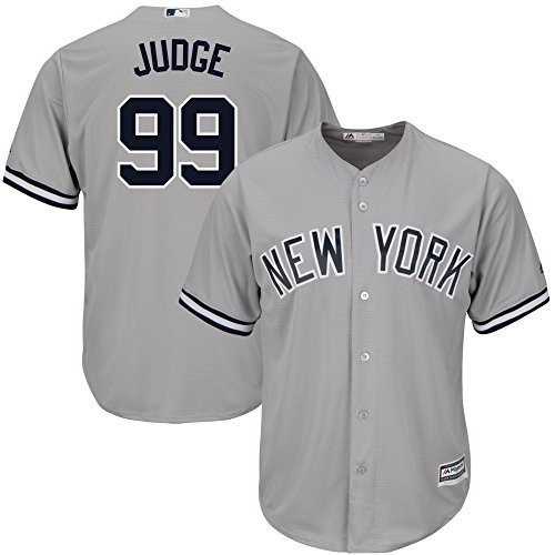 OuterStuff Aaron Judge New York Yankees #99 Gray Youth Cool Base Road Replica Jersey Small 8 (Jersey Base Cool Road)