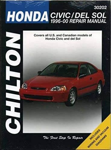 honda civic del sol 1996 2000 chilton total car care series rh amazon com 1996 Honda Civic 4 Door 1996 Honda Civic Parts Catalog