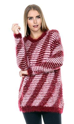 Stanzino Womens Burgundy Oversized Sweater