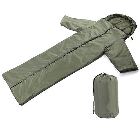 Summmarlee Saco De Dormir con Sobre Verde Militar Poliéster Primavera, Verano, Otoño E Invierno