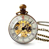 FENKOO Quartz pocket watch Unisex Leisure Machinery Pocket Watch Wholesale Magnifying Glass Ball Mechanical Pocket Watch Winter Sweater Chain Watch pocket watches ( Color : 1 )
