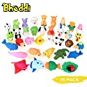 Bheddi 35 Piece Fancy Pencil Eraser Pack