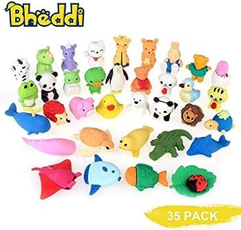 Bheddi 35 Piece Fancy Pencil Eraser Pack