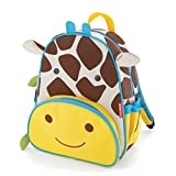 "Skip Hop Toddler Backpack, 12"" Giraffe School Bag, Multi"