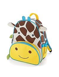 """Skip Hop Toddler Backpack, 12"""" Giraffe School Bag, Multi"""