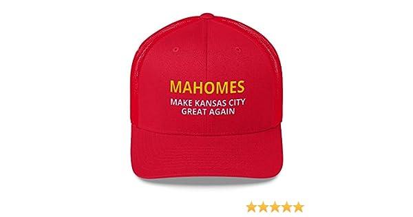 Make Kansas City Great Again Mesh Trucker Hat for KC Fans LiberTee Mahomes Chiefs Hat Unisex