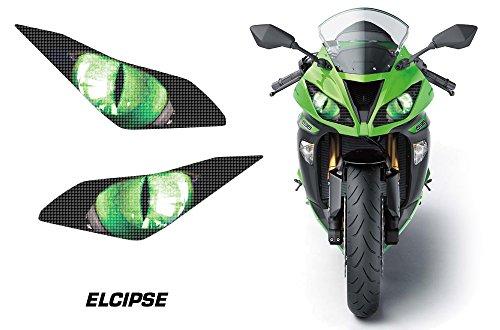 Kawasaki Green - AMR Racing Sport Bike Headlight Eye Graphic Decal Cover for Kawasaki Ninja 636 13-14 - Eclipse Green