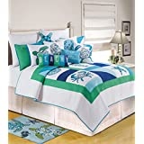 C&F Home 82063.8686 Meridian Waters for Q Quilt, Full/Queen, Blue