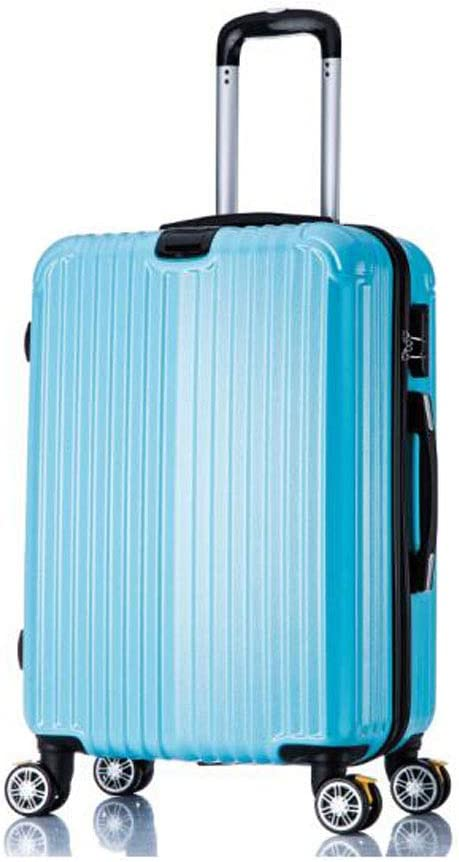 Aishanghuayi Suitcase for Casual Vacation PC Durable Lightweight Soft Shell kit Suitcase Black Size cm 37 22 58 Color : Blue, Size : 15924 inch