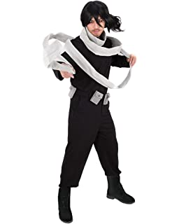 Miccostumes Mens Eraserhead MHA Hero Shota Aizawa Cosplay Costume with Scarf Belt