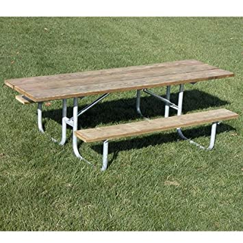Amazoncom One Sided ADA PicnicTable Wood Picnic Tables - One sided picnic table