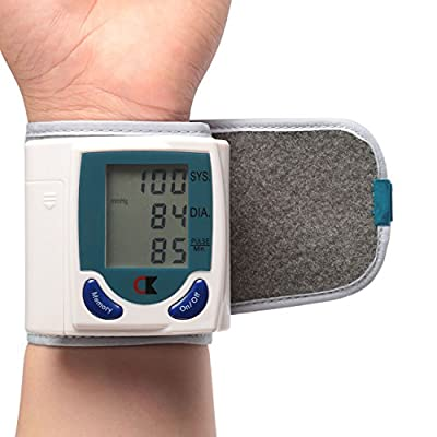 GPCT Wrist Blood Pressure Cuff Wrist Monitor Automatic Digital Sphygmomanometer - BP Machine Measures Pulse, Diastolic and Systolic High Accurate Meter Best Reading High Normal and Low