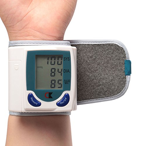 GPCT Wrist Blood Pressure Cuff Wrist Monitor Automatic Digital Sphygmomanometer - BP Machine Measures Pulse, Diastolic and Systolic High Accurate Meter Best Reading High Normal and (Pressure Machine)